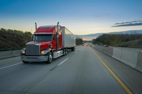 A truck on an Atlanta, Georgia, highway.
