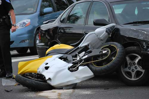 A motorcycle wreck in Atlanta.