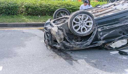 A car wreck in Albany, GA.