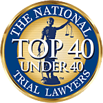 National Trial Lawyers Top 40 Under 40 seal