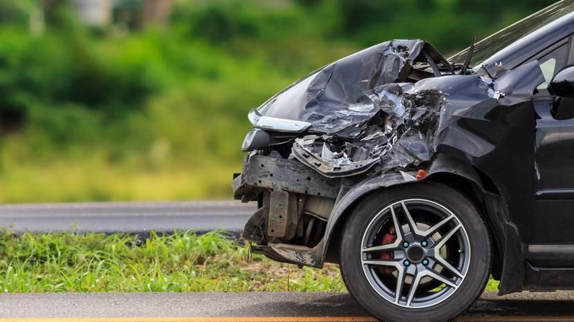 solo car crash on Interstate 16