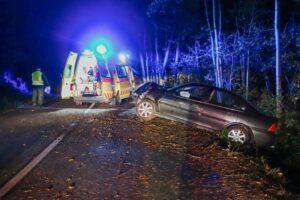 Hall County Single Car Crash