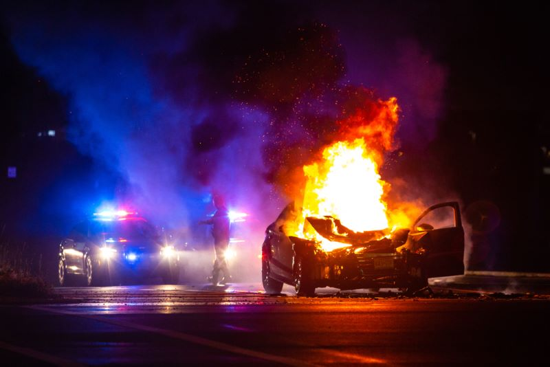 car crash near Greenbriar Mall